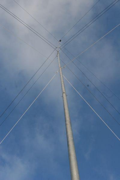 Вертикальная антенна на 7 и 10 МГц | YL3BU.lv