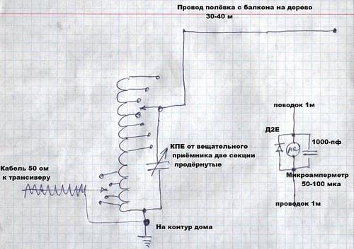 Согласующие устройство для антенны луч