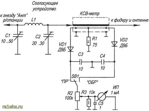 Схема КСВ метра